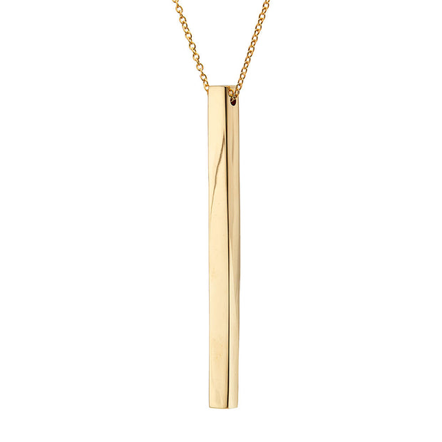 Thin Bar Pendant Necklace