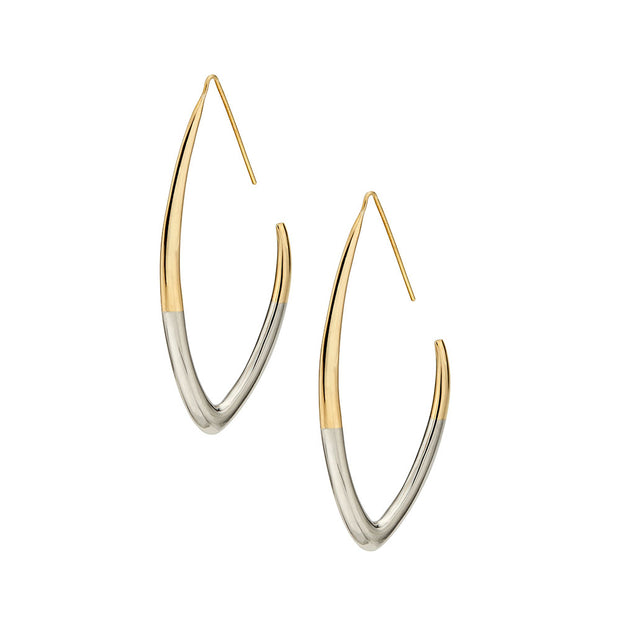 Tulla Outline Threader Earrings