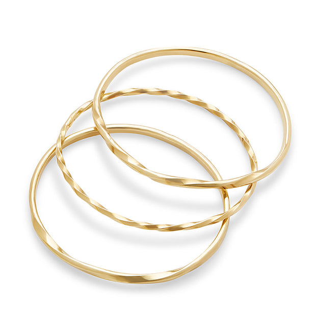 Twist Stacked Bangle Bracelets