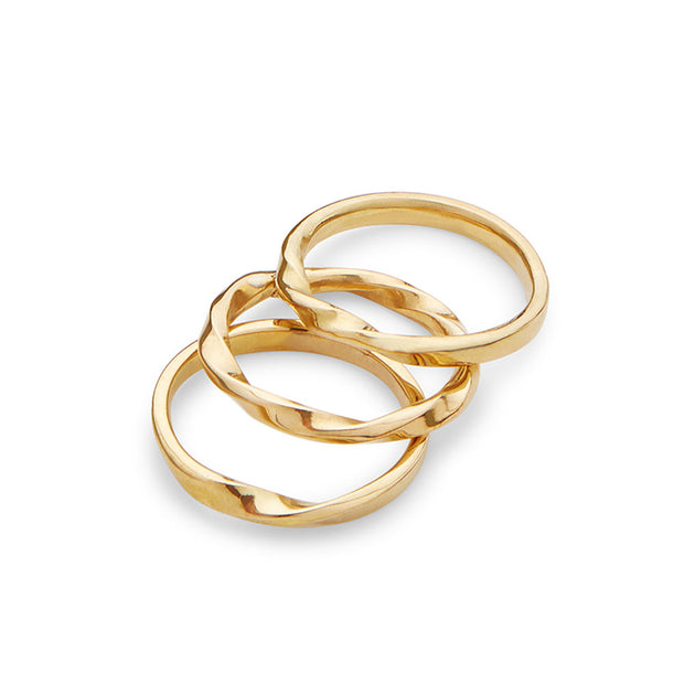 Twist Stacked Rings