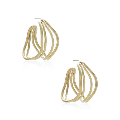 Wavy Strand Hoop Earrings