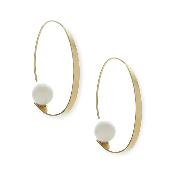 Zuri Orb Threader Earrings