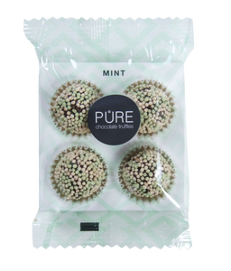 Pure Chocolade Truffels - Mint on the go 4 stuks