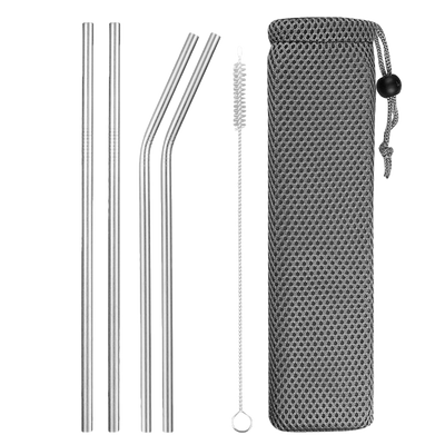 Eco Drink Stainless Steel Straw - Set of 4