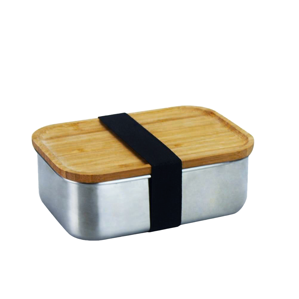 Stainless Steel Wooden Bento Lunch Box - Earthlogy