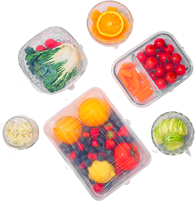 Earthlogy™ Square Silicone Reusable Lids