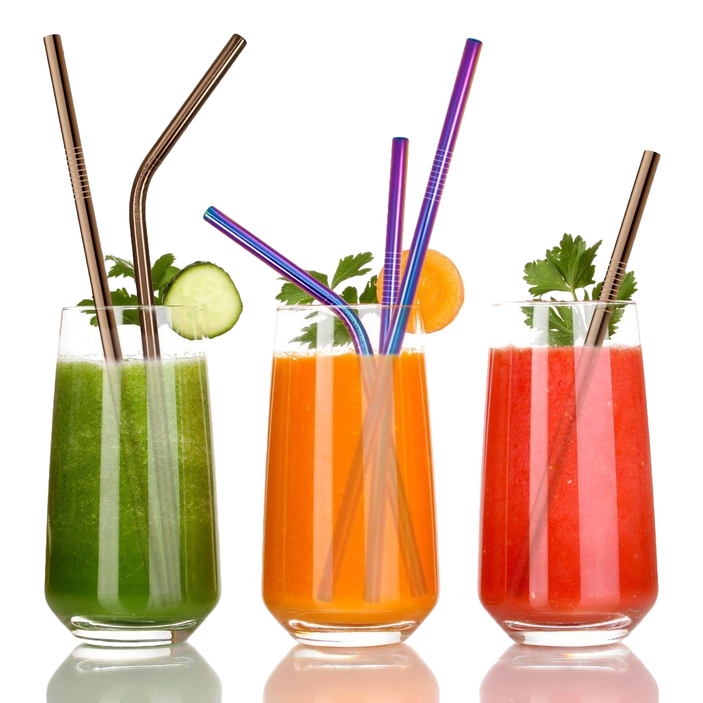 Eco Drink Stainless Steel Straw - Set of 100