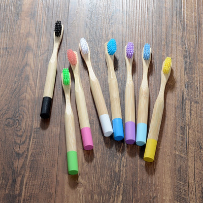 Biodegradable Premium Bamboo Kids Toothbrush 10pcs Pack - Earthlogy