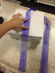 How to Wrap Ribbon Around a Box Neatly - Periwinkle Emporium