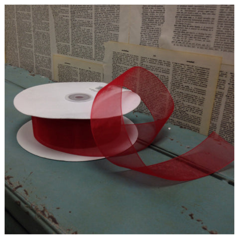 Organza Ribbon, Red