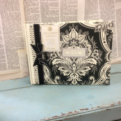 Anna Griffin Willow Black and Ivory Guest Book