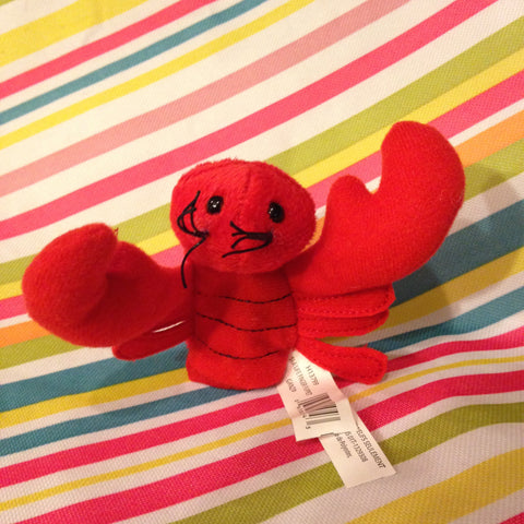 Sea Critter Finger Puppet Lobster