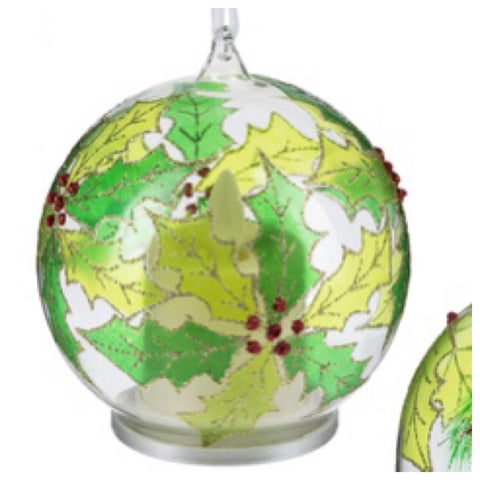 Holly Luxury Lite Flickering Flame Ornament by Ganz