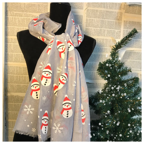 Not Too Snuggly Snowmen Scarf
