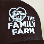 'I Love Family Farms' Fitted Hat