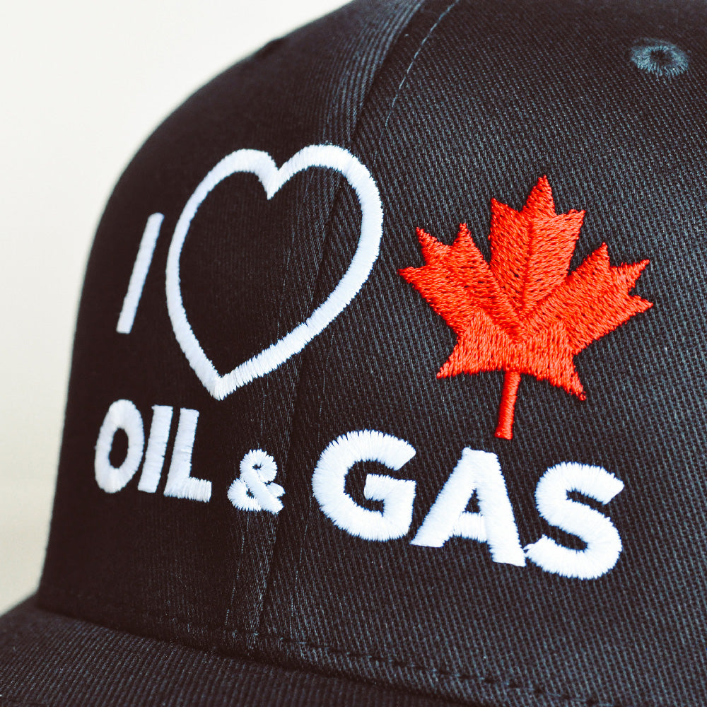 'I Love Canadian Oil & Gas' Fitted Hat