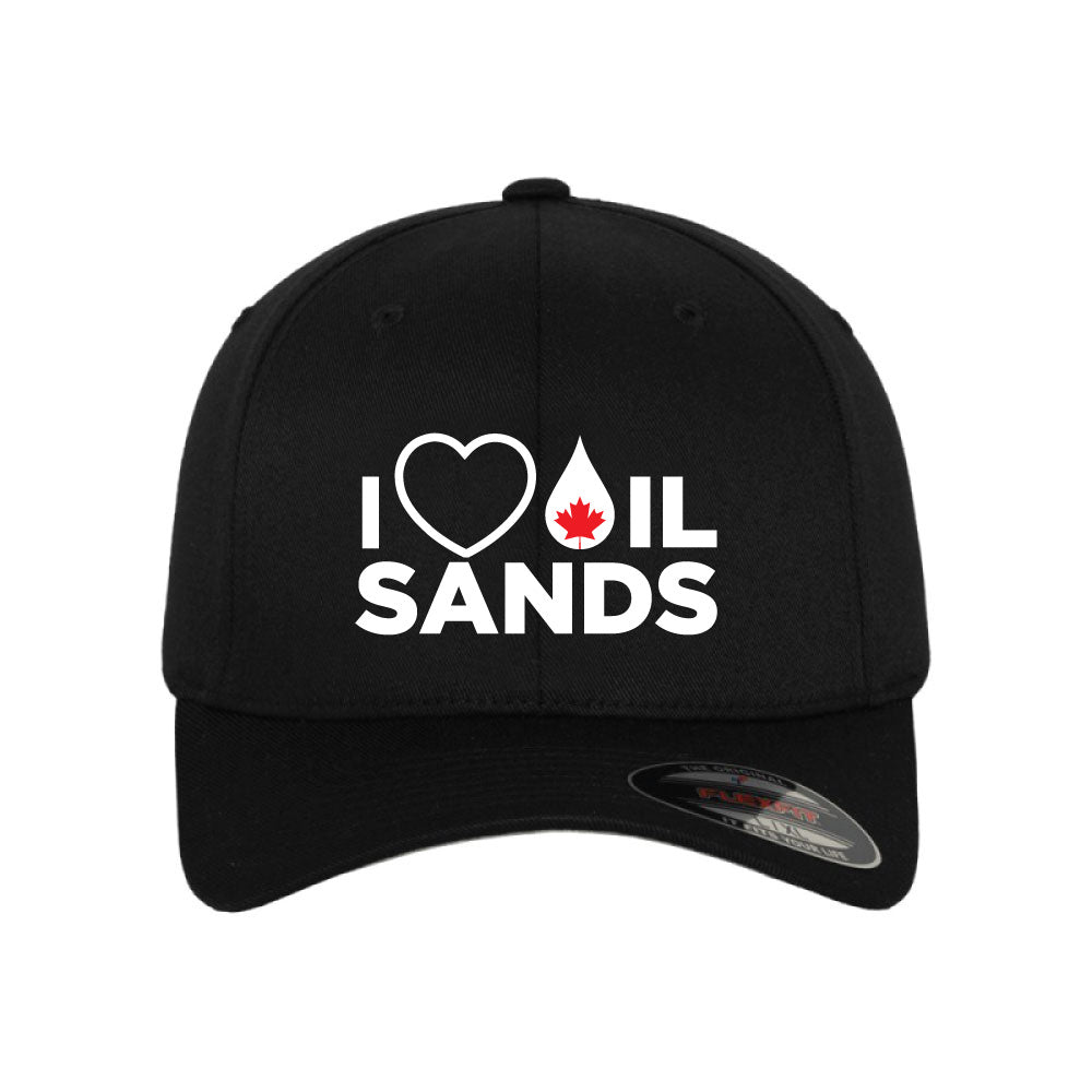 'I Love Oil Sands' Fitted Hat