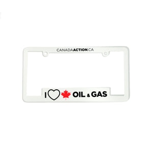 'I Love Oil & Gas' License Plate Frame