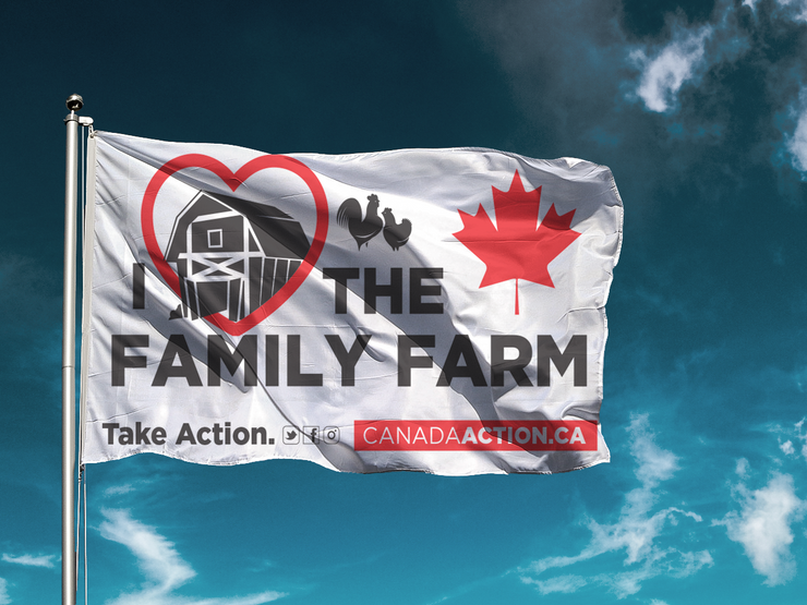 'I Love Family Farms' Flag