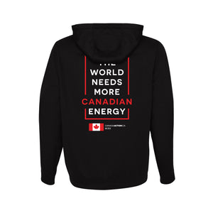 'I Love Canadian Energy' Mens Game Day hoodie