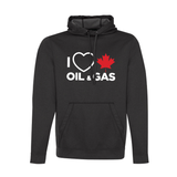 'I Love Canadian Oil & Gas' Mens Game Day hoodie