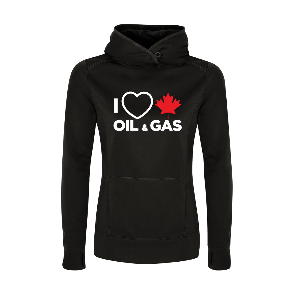 'I Love Canadian Oil & Gas' Womens Game Day Hoodie