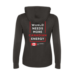 'I Love Canadian Pipelines' Womens Game Day Hoodie