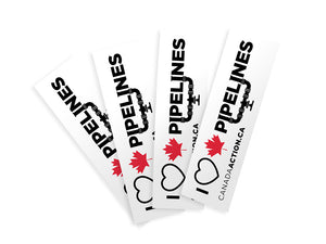 'I Love Canadian Pipelines' decal 4 pack