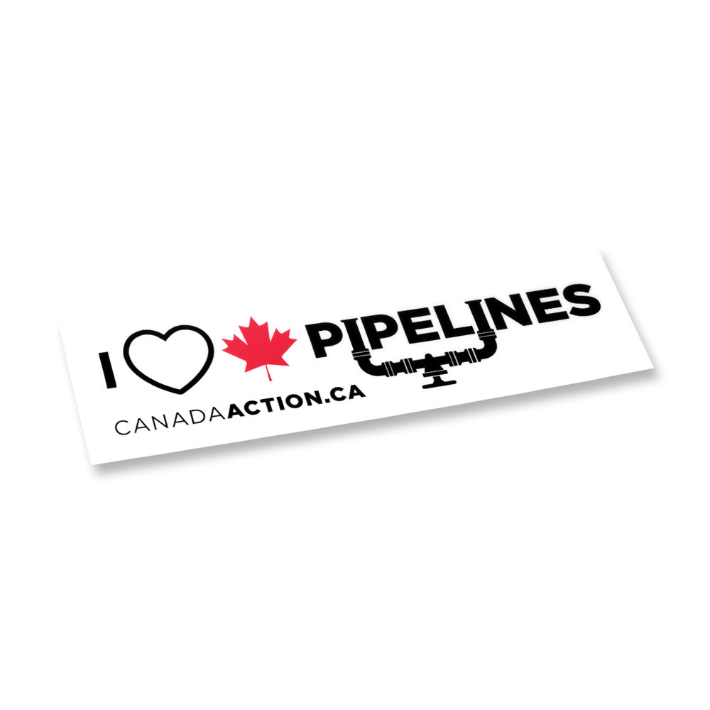 'I Love Canadian Pipelines' decal