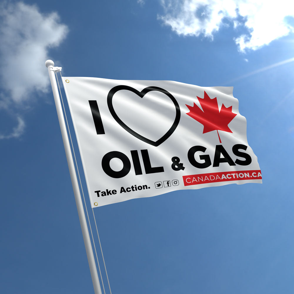 'I Love Oil & Gas' Flag