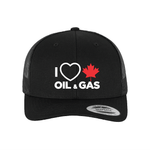 'I Love Oil & Gas' Snapback Retro Trucker Hat