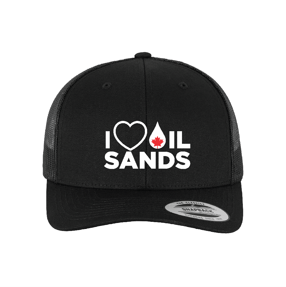'I Love Oil Sands' Snapback Retro Trucker Hat