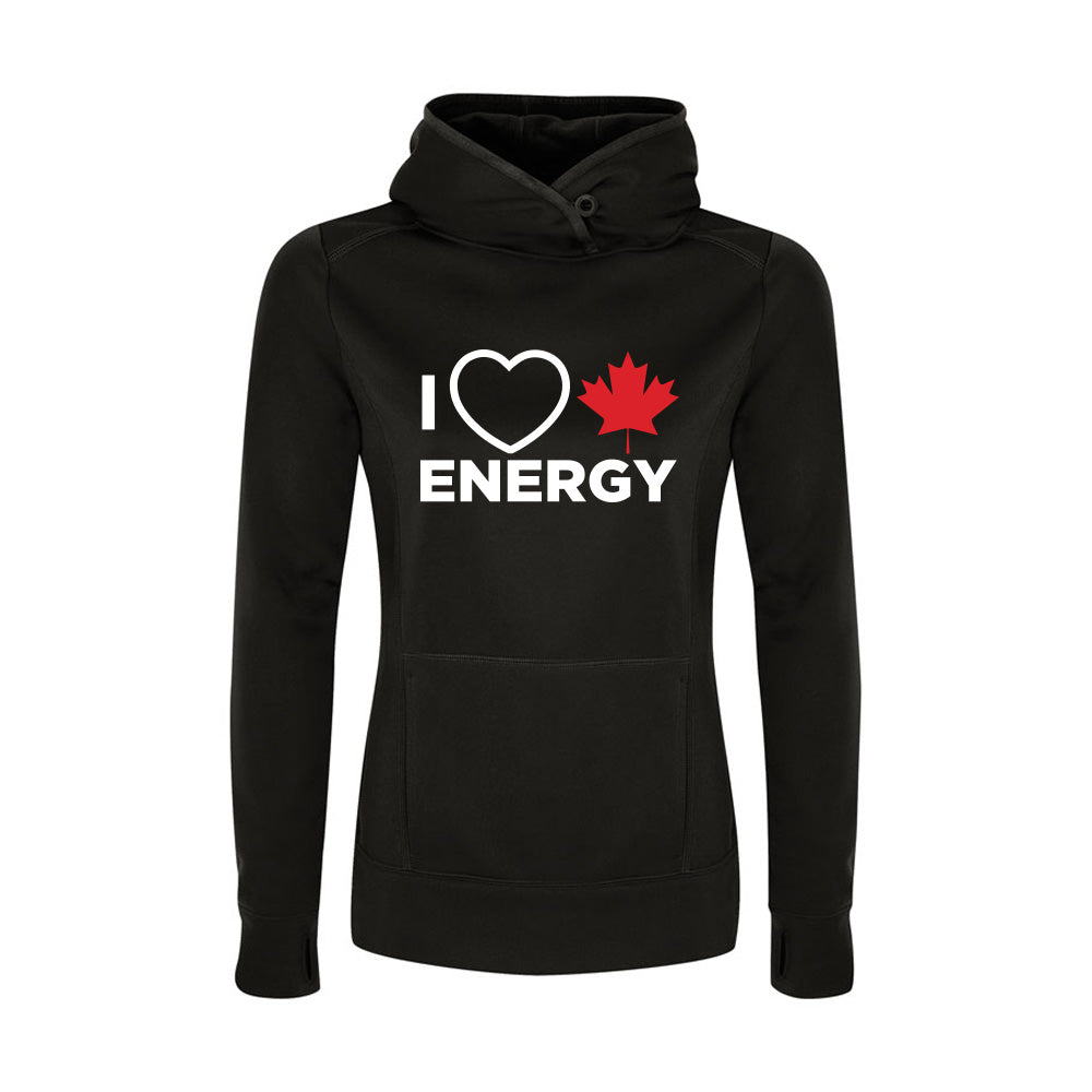 'I Love Canadian Energy' Womens Game Day Hoodie