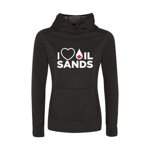 'I Love Oil Sands' Womens Game Day Hoodie