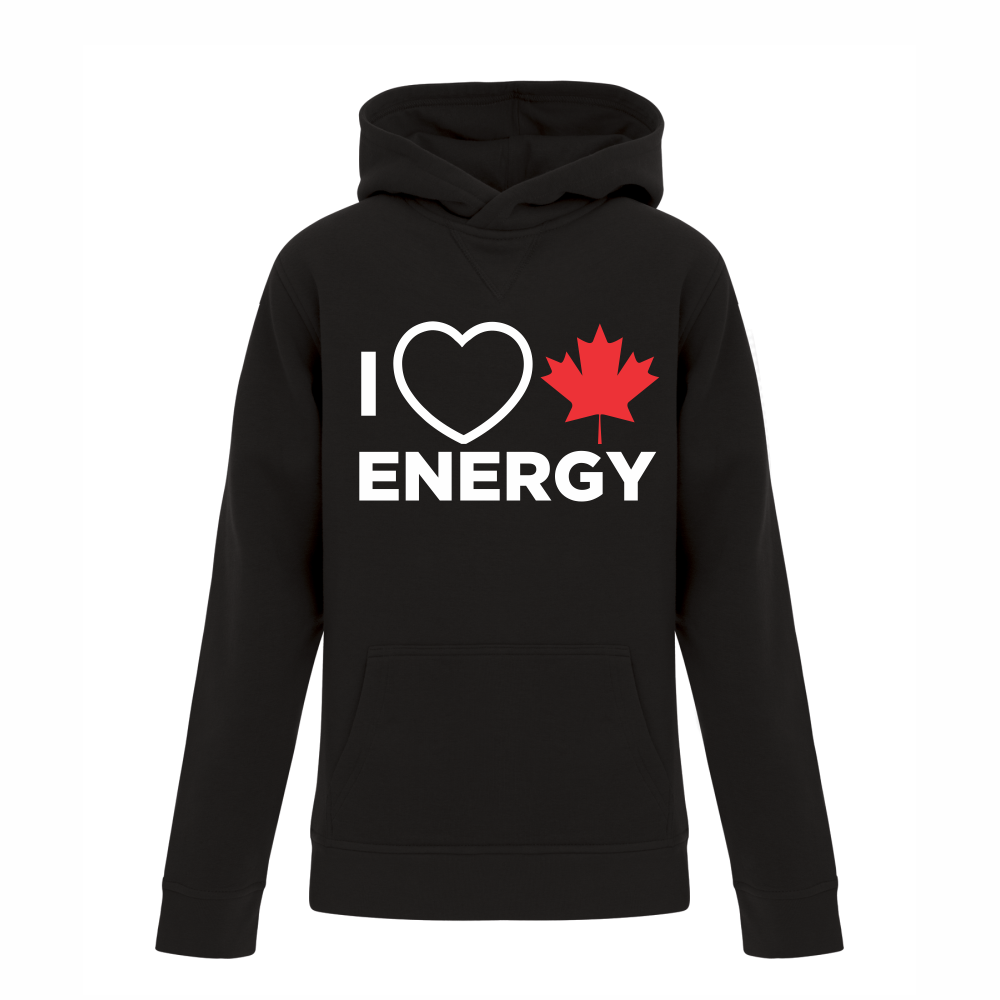 'I Love Canadian Energy' Youth Hoodie