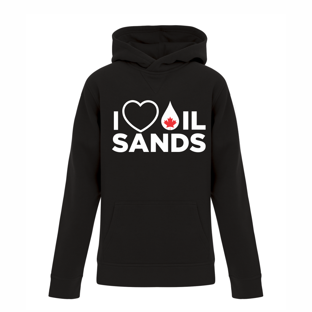 'I Love Canadian Oil Sands' Youth Hoodie