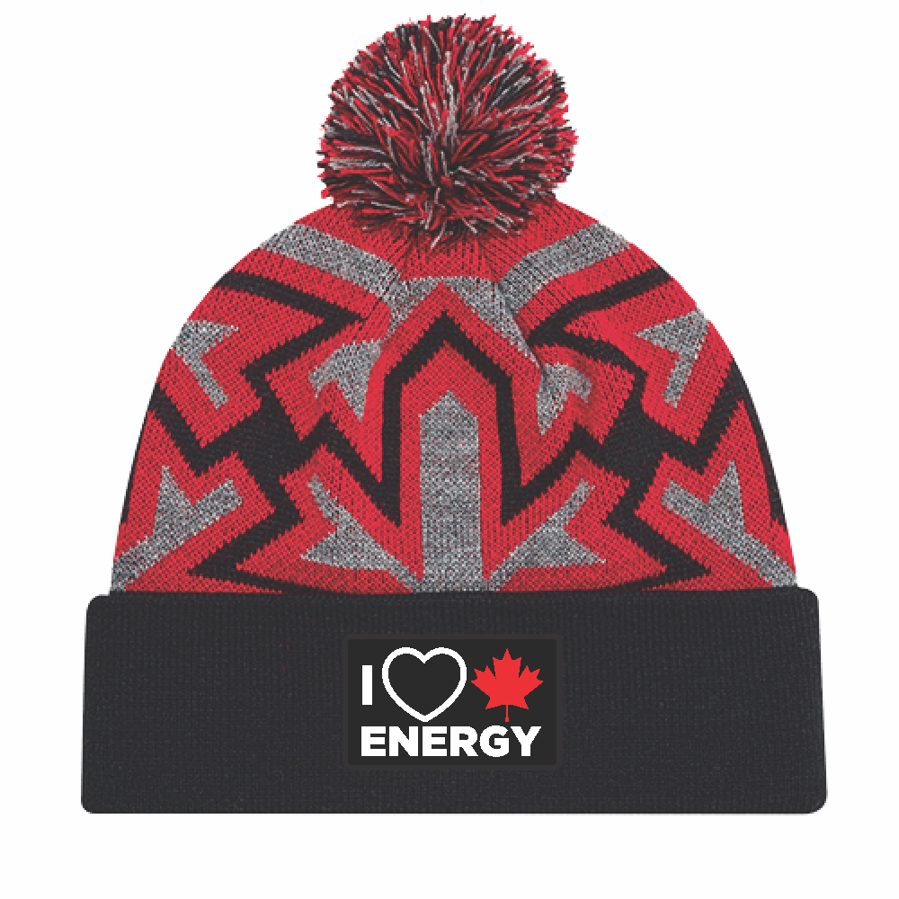 'I Love Canadian Energy' Knit Pom Pom Toque