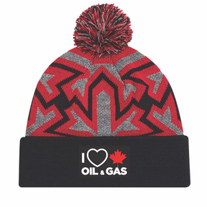 'I Love Canadian Oil & Gas' Knit Pom Pom Toque