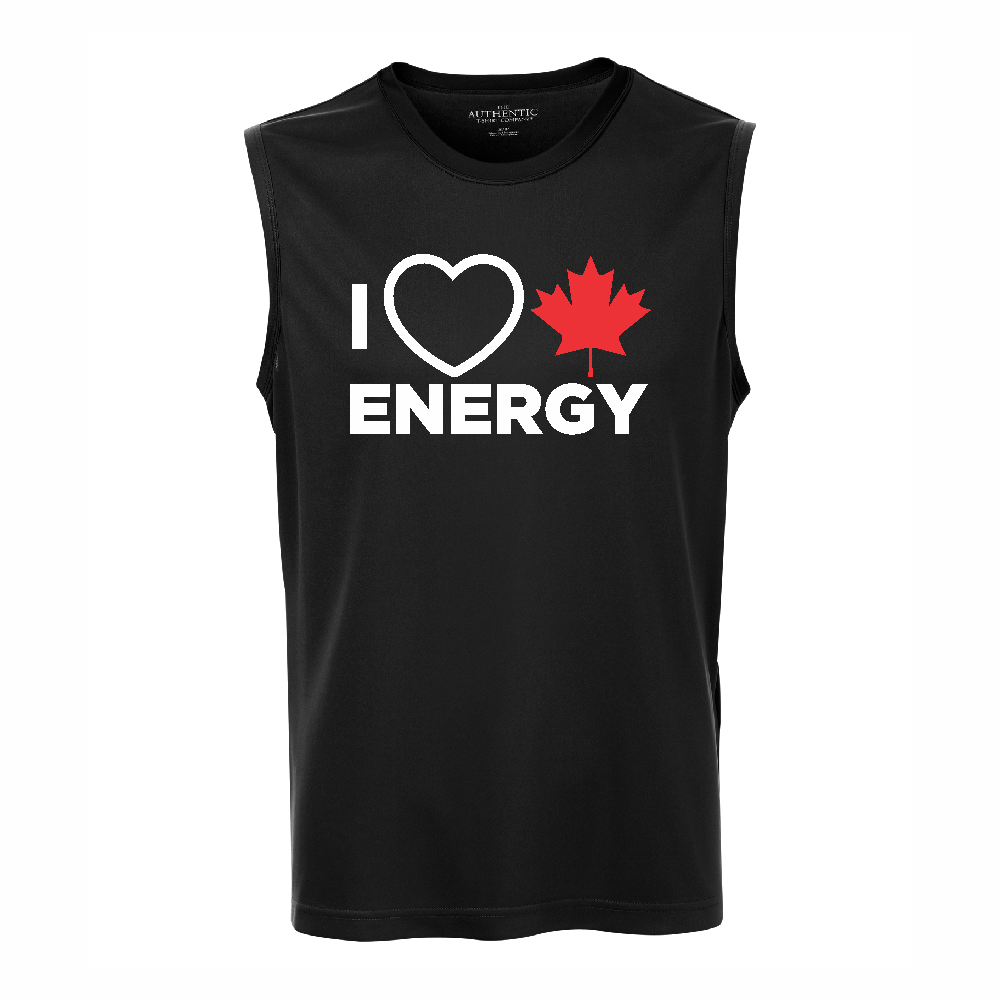 'I Love Canadian Energy' Performance Tank Top