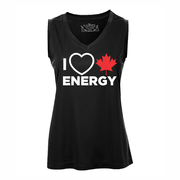 'I Love Canadian Energy' Women's Performance Tank Top
