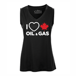 'I Love Canadian Oil & Gas' Women's Performance Tank Top