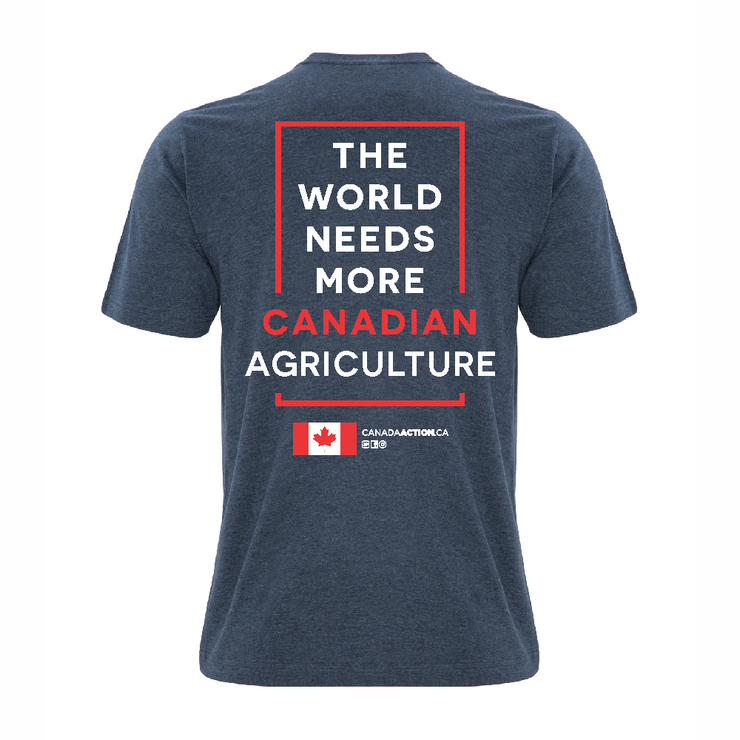 'I Love Canadian Agriculture' Ring Spun Tee