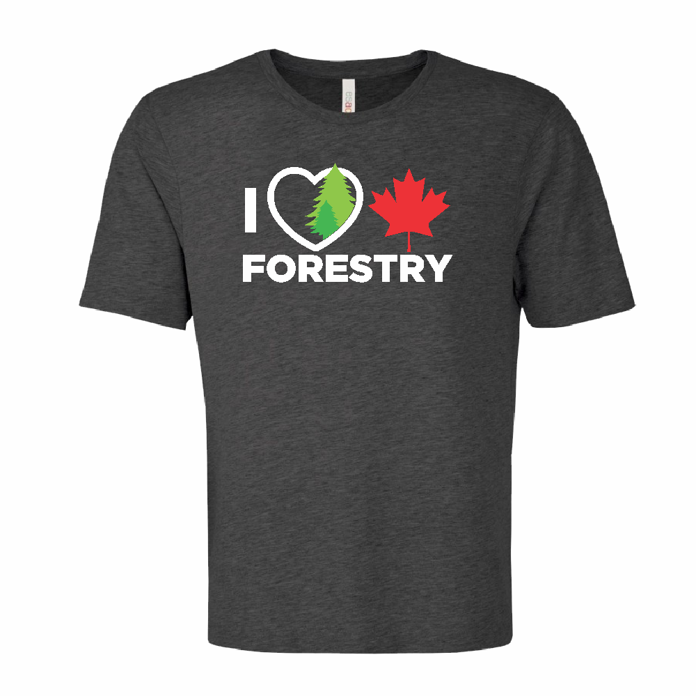 'I Love Canadian Forestry' Ring Spun Tee
