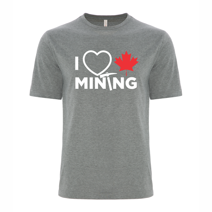 'I Love Canadian Mining' Ring Spun Tee
