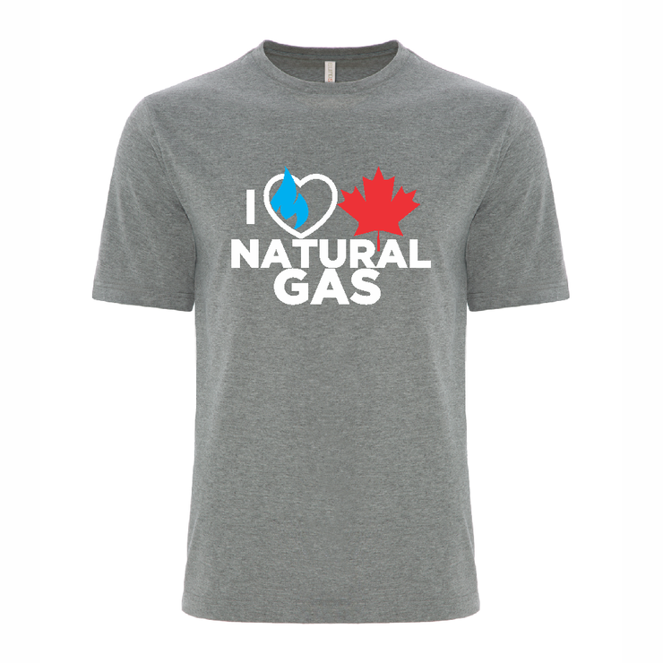 'I Love Canadian Natural Gas' Ring Spun Tee