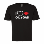 'I Love Canadian Oil & Gas' Ring Spun Tee