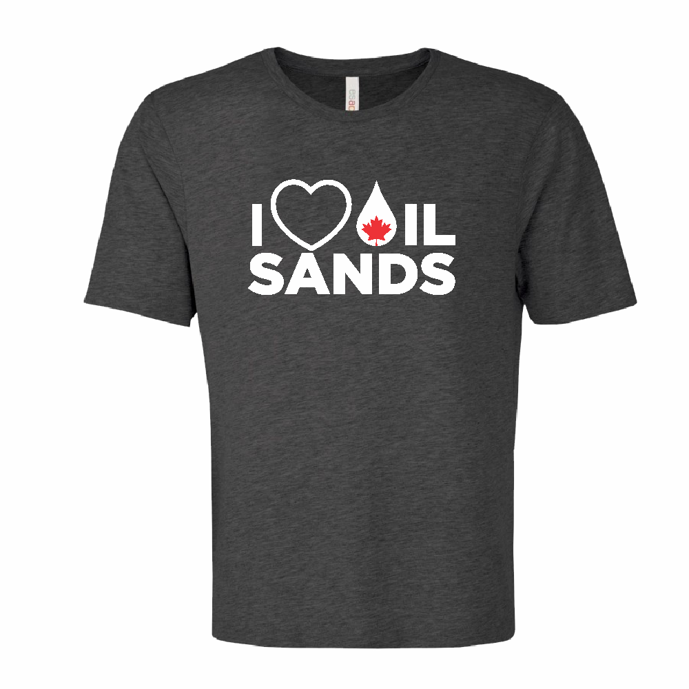 'I Love Oil Sands' Ring Spun Tee