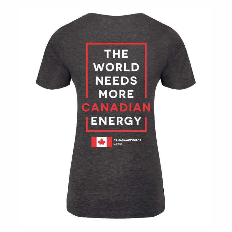 'I am Canadian Energy' Women's V-neck