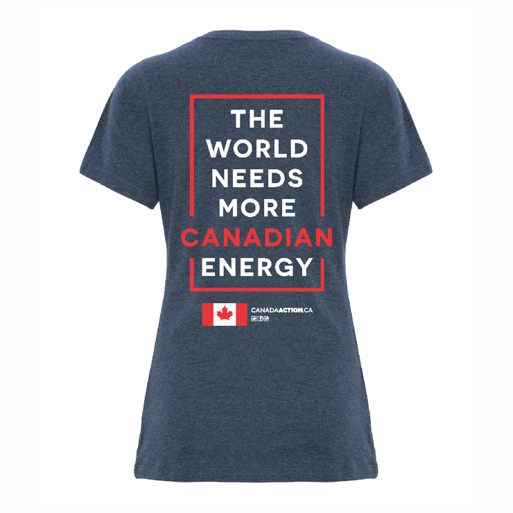 'I Love Canadian Pipelines' Women's V-Neck