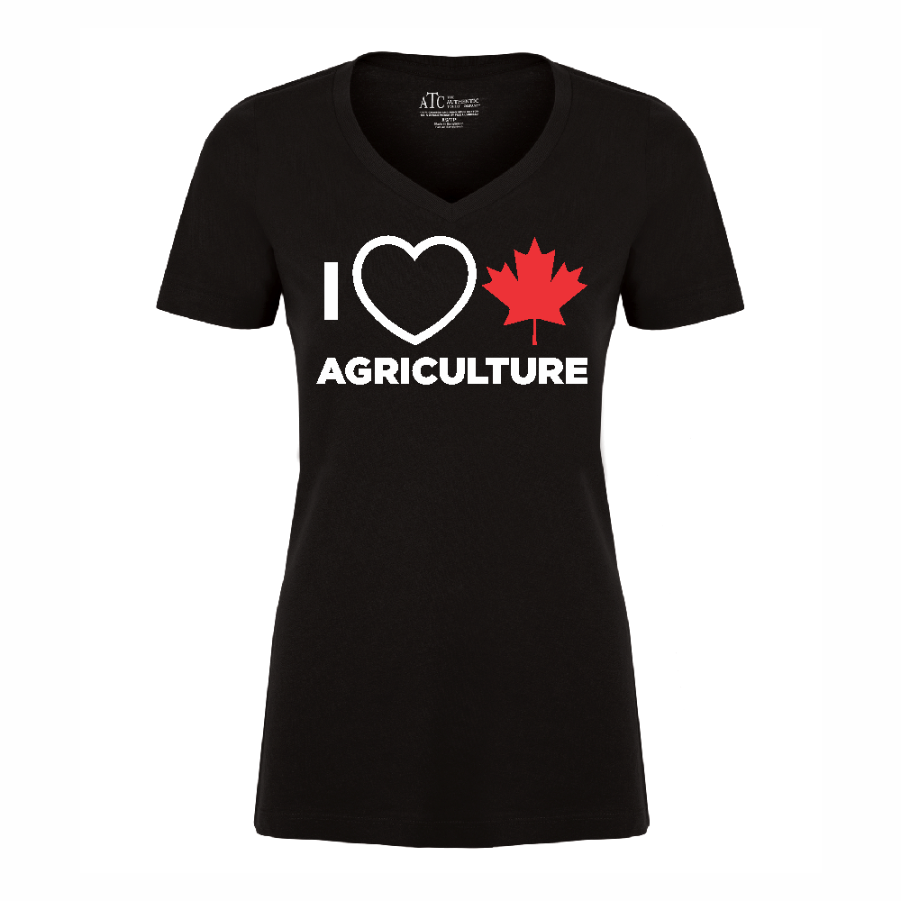 'I Love Canadian Agriculture' Women's V-Neck